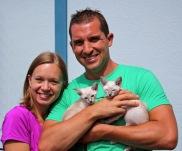Krysta and Matt with two blue lynx point girls - Elko, MN